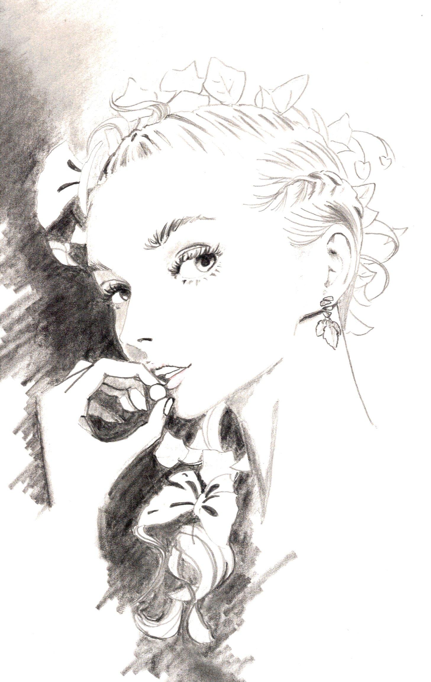 美人を描いた絵の画像