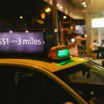 シンガポールのタクシー画像