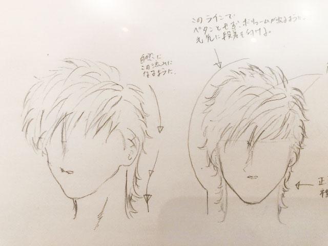 美容師へ髪型のイメージを伝えるために描いた絵