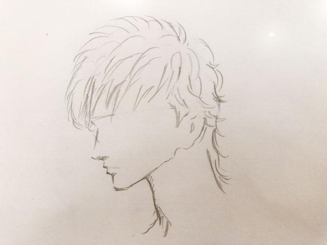 美容師へ髪型のイメージを伝えるために描いた絵2